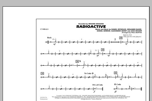 Radioactive - Cymbals (Marching Band)