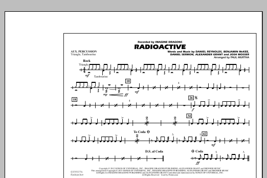Radioactive - Aux Percussion (Marching Band)