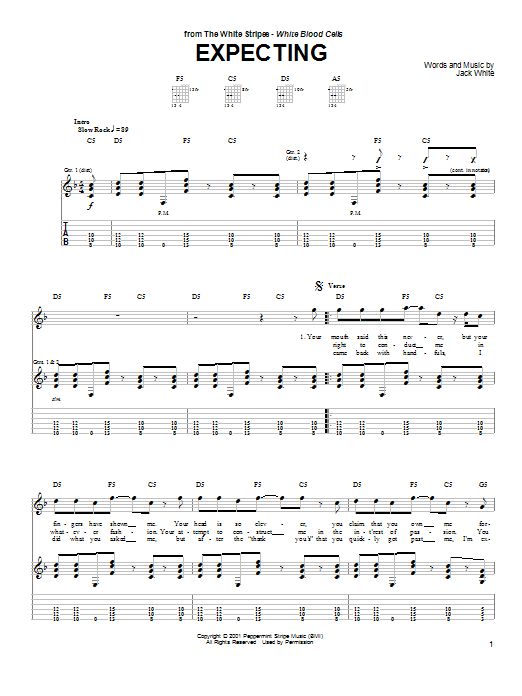Expecting (Guitar Tab)