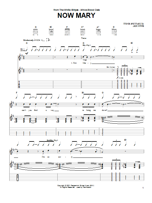 Now Mary (Guitar Tab)