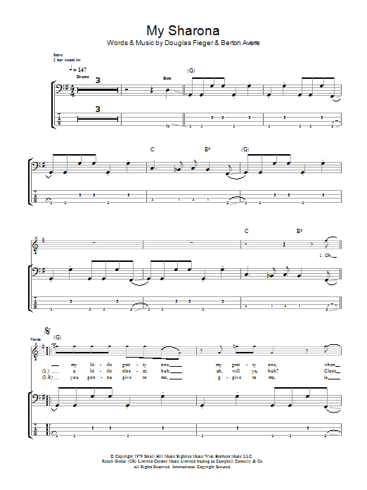 My Sharona Sheet Music