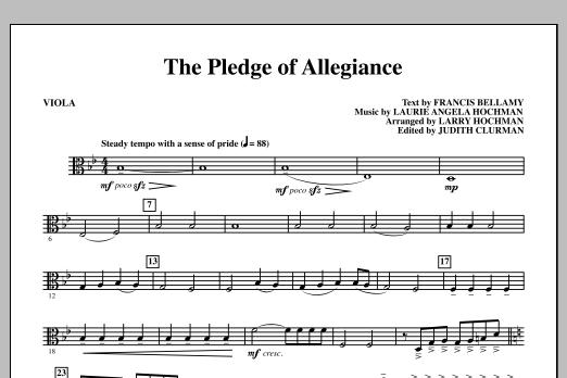 The Pledge of Allegiance - Viola Partituras Digitales