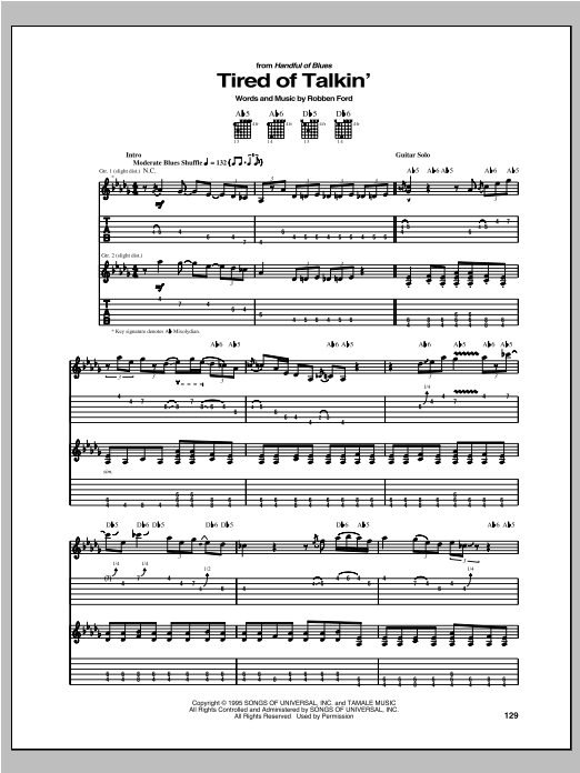 Tired Of Talkin' Sheet Music