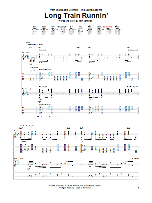 Long Train Runnin' Sheet Music