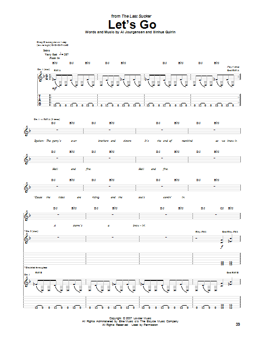 Let's Go (Guitar Tab)
