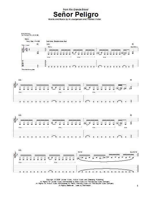 Senor Peligro Sheet Music