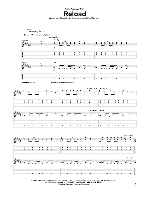 Reload Sheet Music