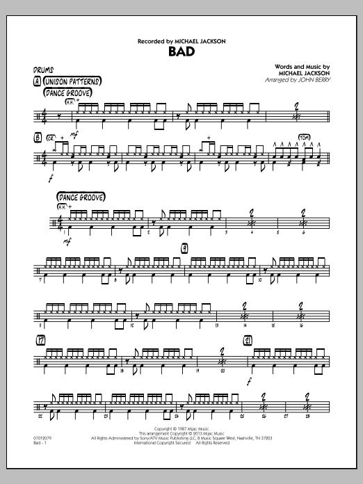 Bad - Drums (Jazz Ensemble)