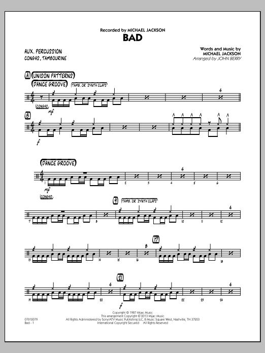 Bad - Aux Percussion (Jazz Ensemble)