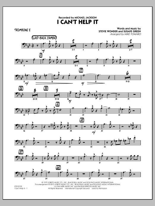I Can't Help It - Trombone 2 (Jazz Ensemble)