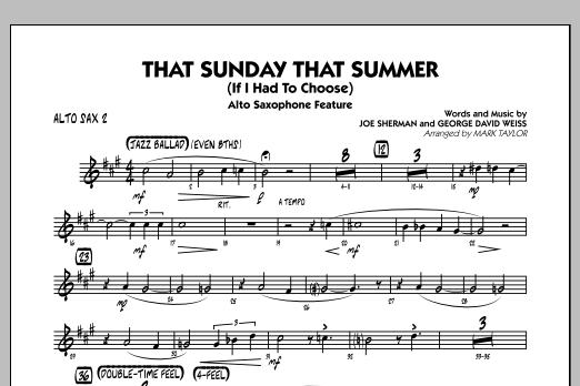 That Sunday That Summer (If I Had to Choose) - Alto Sax 2 (Jazz Ensemble)