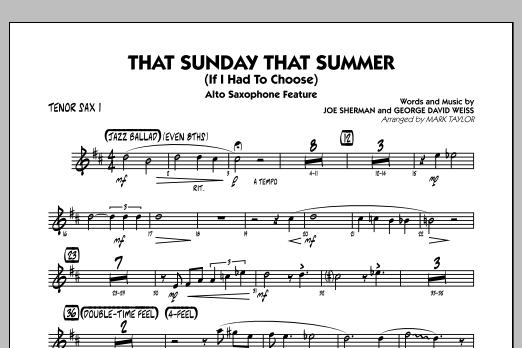 That Sunday That Summer (If I Had to Choose) - Tenor Sax 1 (Jazz Ensemble)