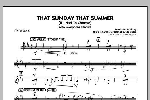 That Sunday That Summer (If I Had to Choose) - Tenor Sax 2 (Jazz Ensemble)