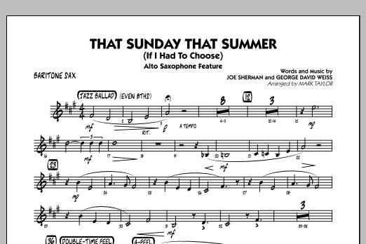 That Sunday That Summer (If I Had to Choose) - Baritone Sax (Jazz Ensemble)