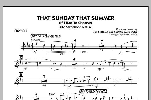 That Sunday That Summer (If I Had to Choose) - Trumpet 1 (Jazz Ensemble)