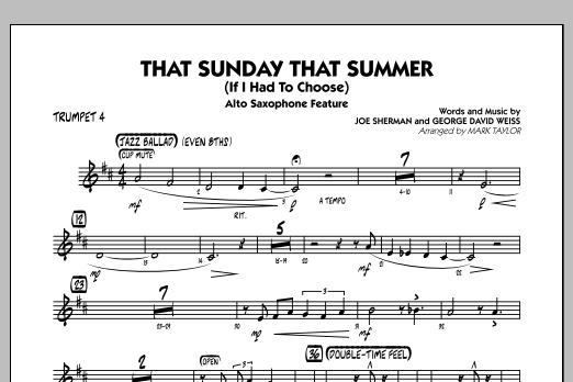 That Sunday That Summer (If I Had to Choose) - Trumpet 4 (Jazz Ensemble)
