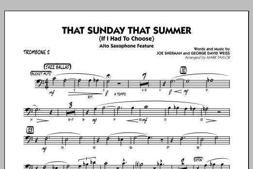That Sunday That Summer (If I Had to Choose) - Trombone 2 (Jazz Ensemble)