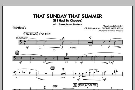That Sunday That Summer (If I Had to Choose) - Trombone 3 (Jazz Ensemble)