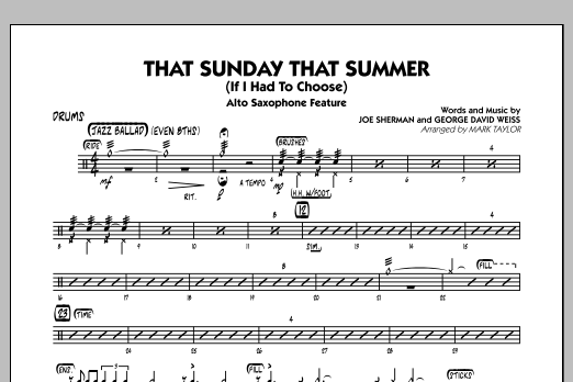 That Sunday That Summer (If I Had to Choose) - Drums (Jazz Ensemble)