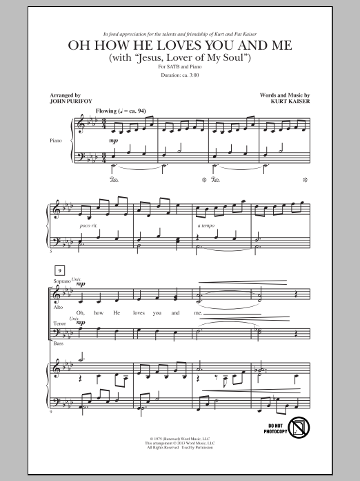 Partition chorale Jesus, Lover Of My Soul de Charles Wesley - SATB