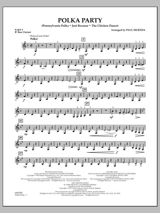 Polka Party - Pt.5 - Bb Bass Clarinet (Flex-Band)