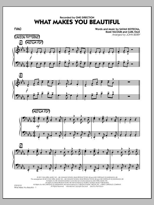 What Makes You Beautiful - Piano (Jazz Ensemble)