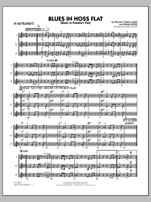 Jazz Combo Pak #37 (Count Basie) - Bb Instruments (Jazz Ensemble)