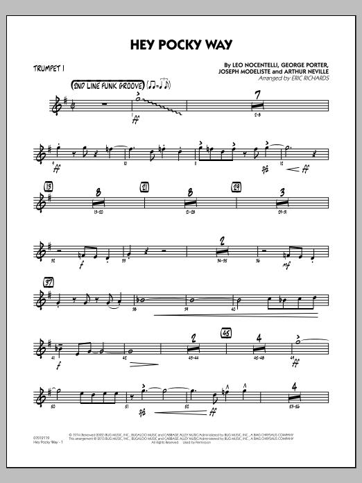 Hey Pocky Way - Trumpet 1 (Jazz Ensemble)
