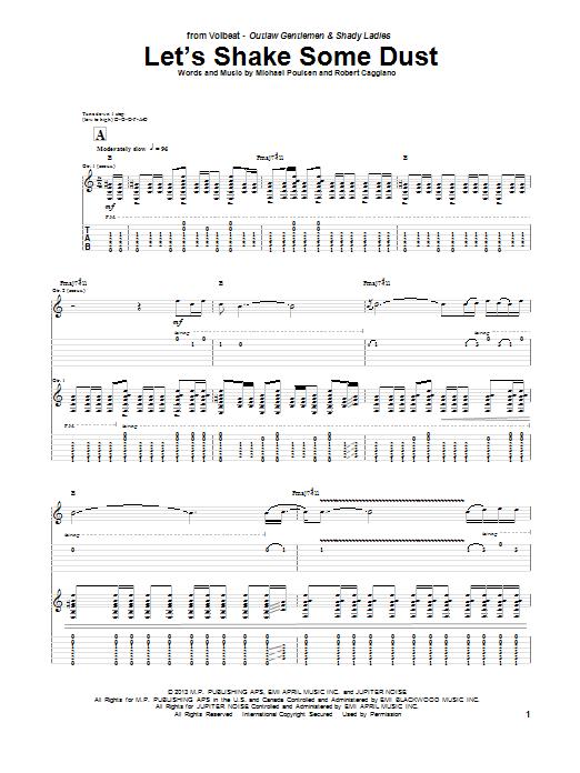 Tablature guitare Let's Shake Some Dust de Volbeat - Tablature Guitare