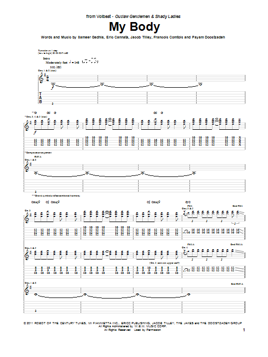 My Body Sheet Music