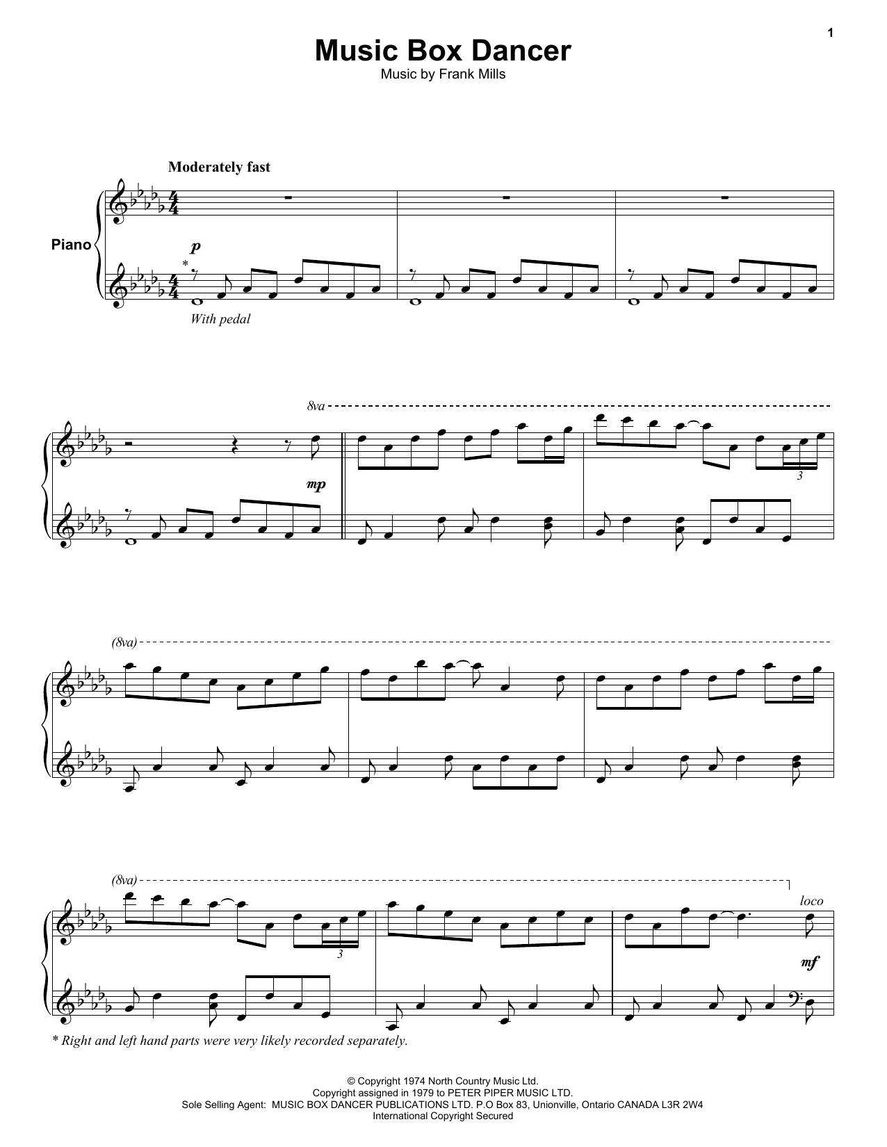 Music Box Dancer (Keyboard Transcription)