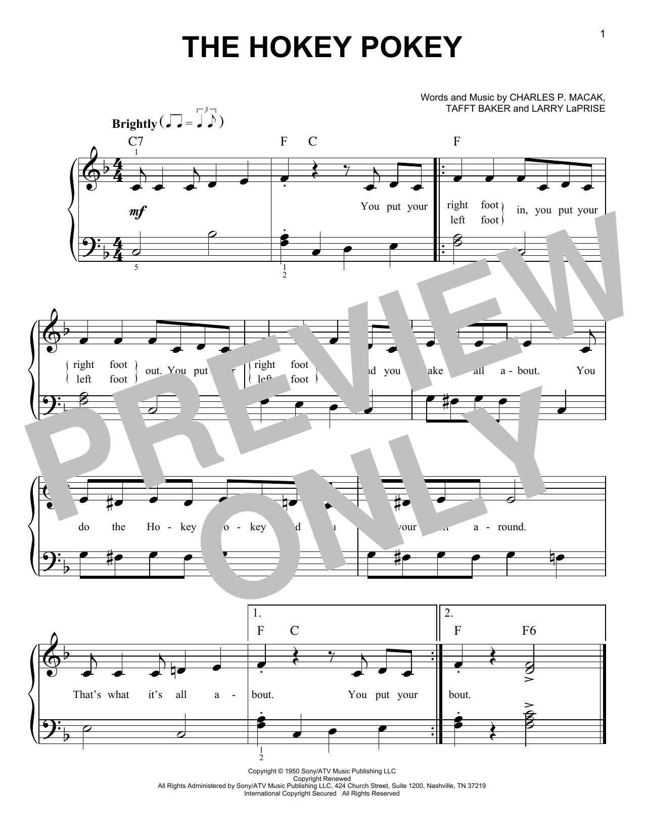 The Hokey Pokey (Very Easy Piano)