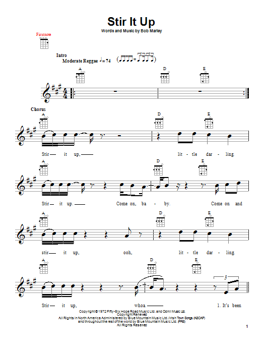 Stir It Up Sheet Music