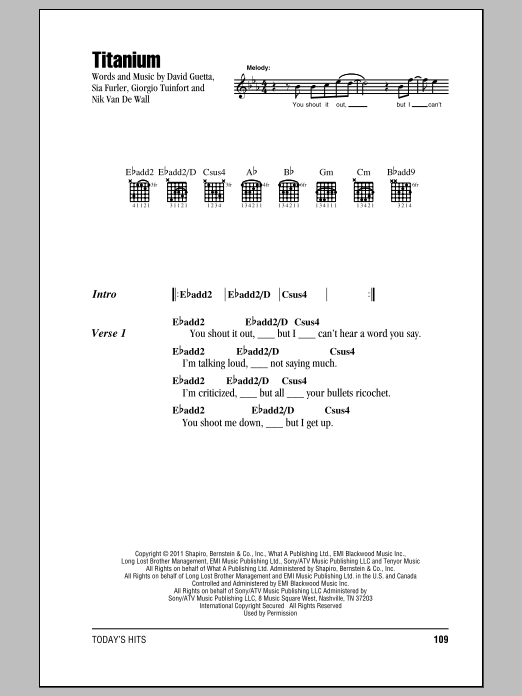 Todays Hits Guitar Chord Songbook Sheet Music Hal Leonard
