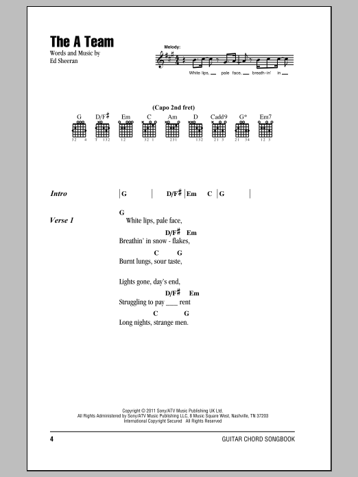 The A Team Sheet Music