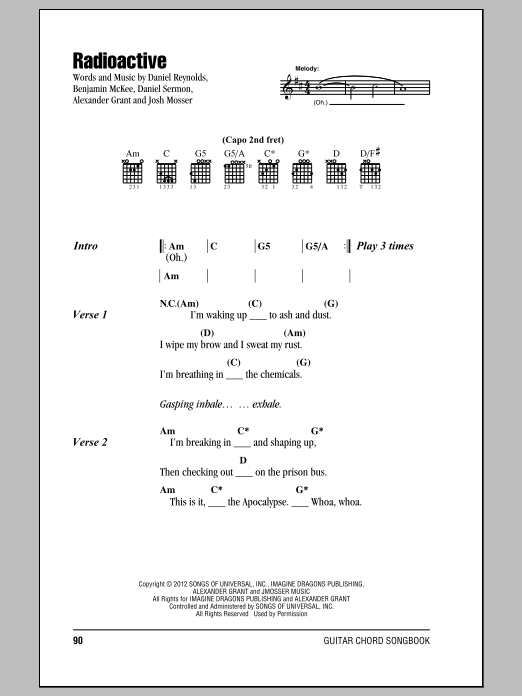 Radioactive - Print Sheet Music Now