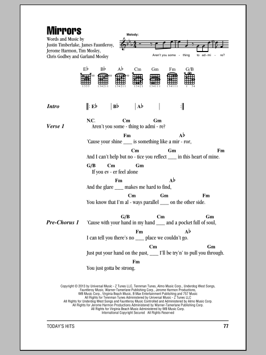 Mirrors by Justin Timberlake - Guitar Chords/Lyrics - Guitar Instructor