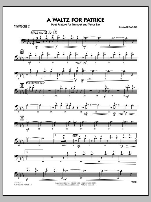A Waltz for Patrice - Trombone 2 (Jazz Ensemble)