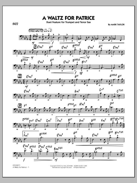 A Waltz for Patrice - Bass (Jazz Ensemble)