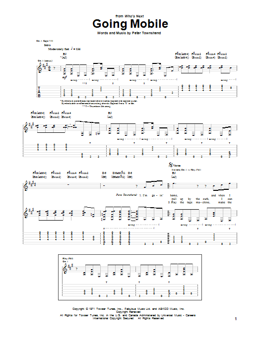 Going Mobile Sheet Music
