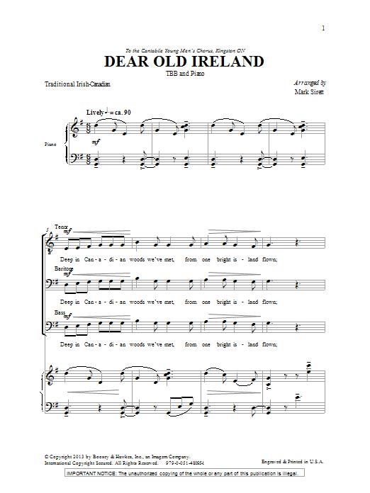 Dear Old Ireland Sheet Music