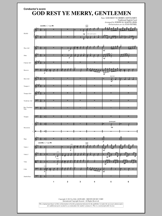 God Rest Ye Merry, Gentlemen (from A Symphony Of Carols) (COMPLETE) sheet music for orchestra/band by Joseph Martin and Joseph M. Martin. Score Image Preview.