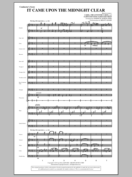 It Came Upon The Midnight Clear (from A Symphony Of Carols) (COMPLETE) sheet music for orchestra/band by Joseph M. Martin. Score Image Preview.