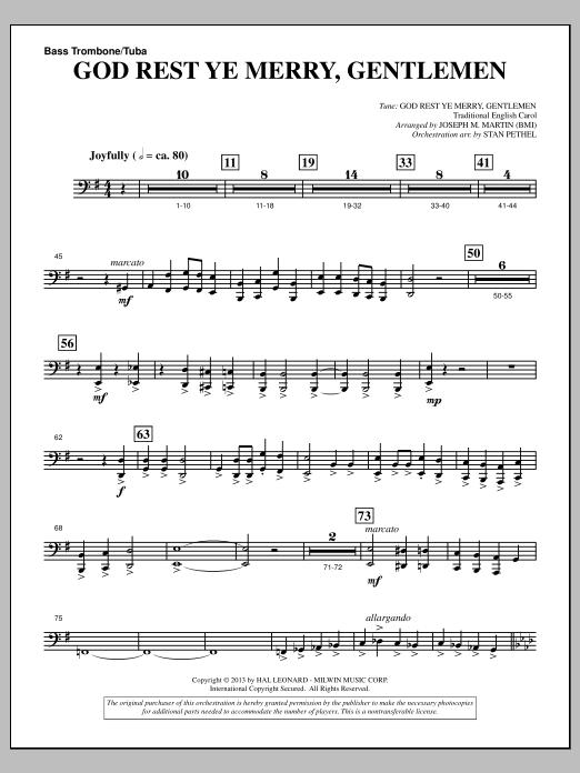God Rest Ye Merry, Gentlemen (from A Symphony Of Carols) - Bass Trombone/Tuba (Choir Instrumental Pak)