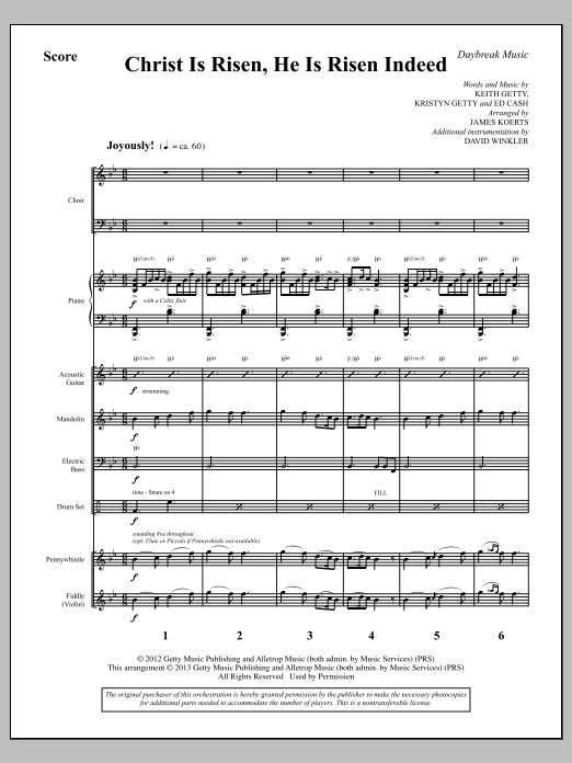 Christ Is Risen, He Is Risen Indeed - Full Score Sheet Music