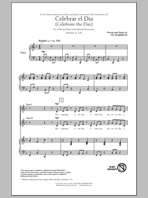 Celebrar El Dia (Celebrate The Day) Sheet Music