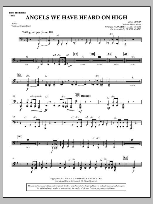 Angels We Have Heard On High (from A Symphony Of Carols) - Bass Trombone/Tuba (Choir Instrumental Pak)