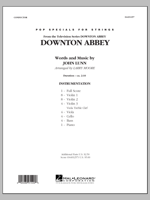Downton Abbey (COMPLETE) sheet music for orchestra by Larry Moore. Score Image Preview.