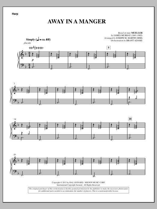Away In A Manger (from A Symphony Of Carols) - Harp (Choir Instrumental Pak)