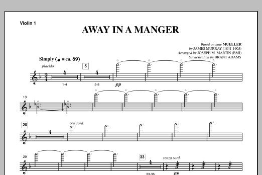 Away In A Manger (from A Symphony Of Carols) - Violin 1 (Choir Instrumental Pak)